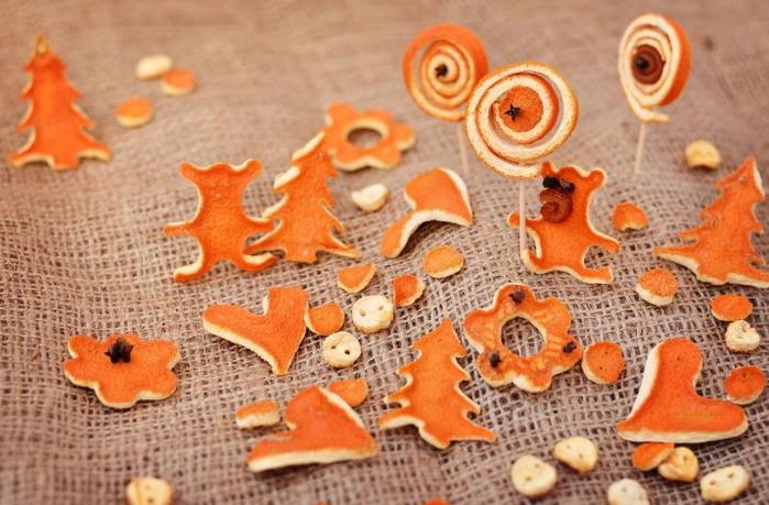 Фото высушенных корочек апельсина